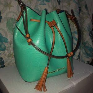 New! Dooney & Bourke Drawstring Bucket Bag